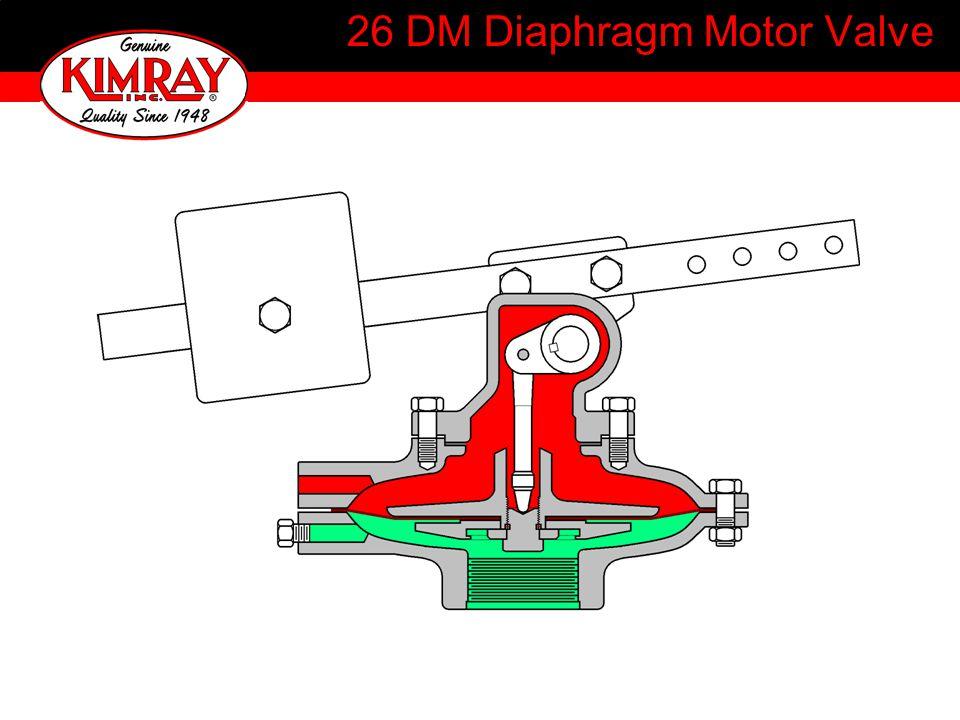 26 DM Diaphragm Motor Valve