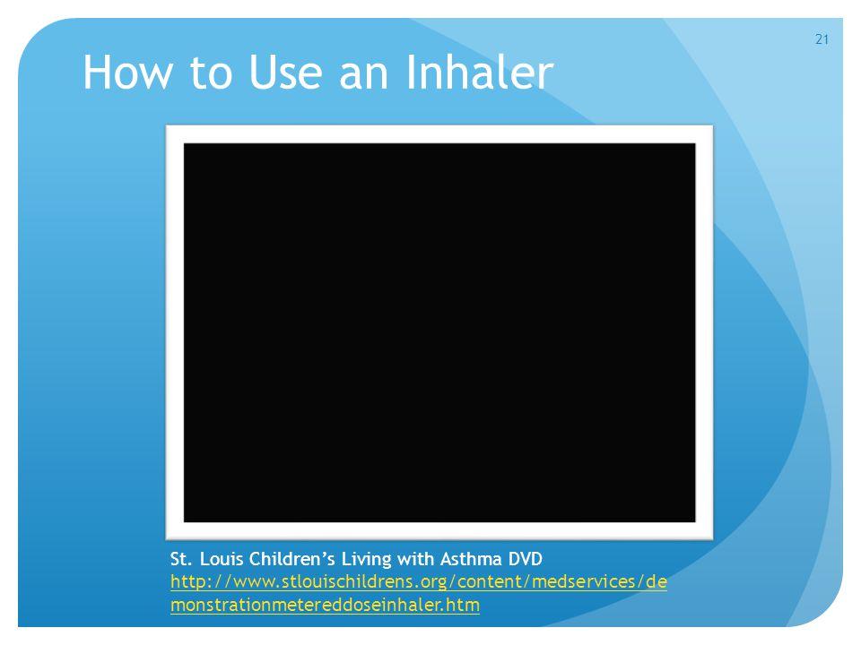 How to Use an Inhaler St.