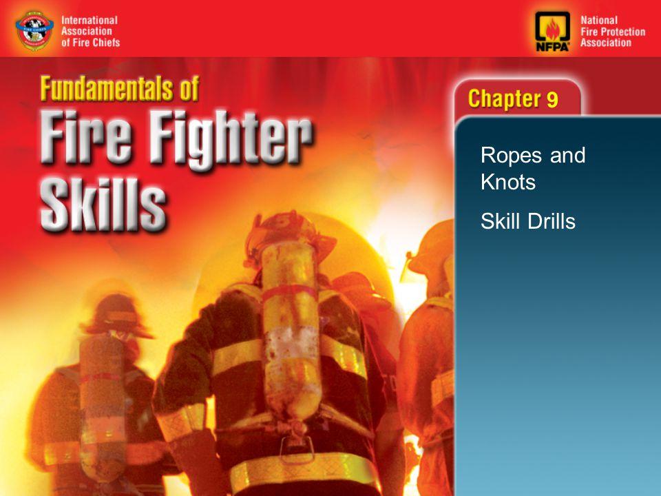 42 Skill Drill 9-14 Hoisting a Charged Hose Line Step 6: Prepare to hoist the hose. 9