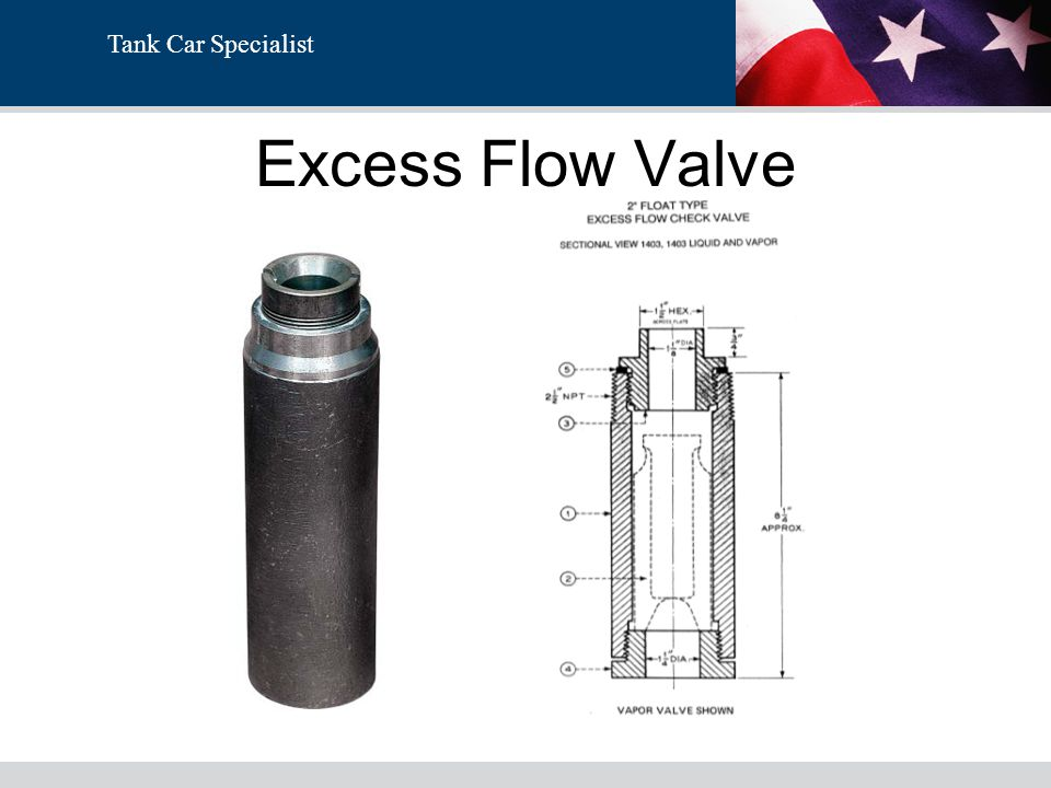 Tank Car Specialist Excess Flow Valve