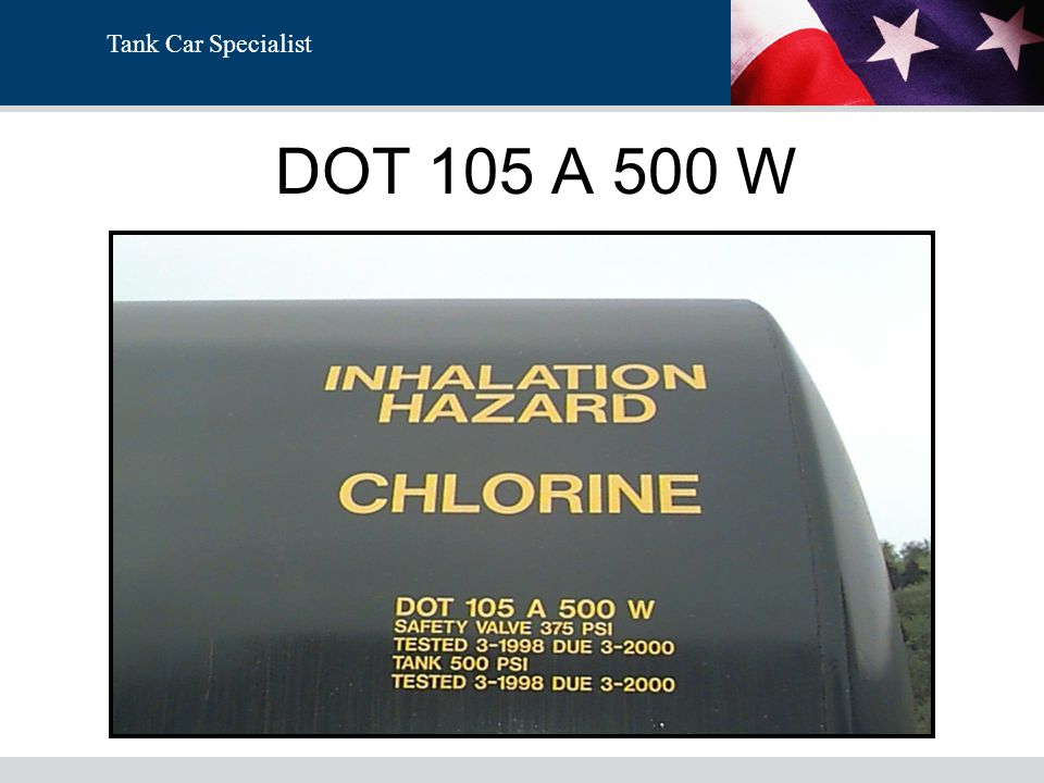 Tank Car Specialist DOT 105 A 500 W