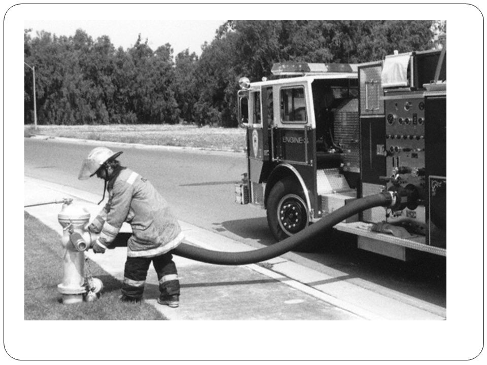 HAND LAY 300 FT OF SUPPLY LINE FROM PUMPER TO A WATER SOURCE Hoseline drag Stand alongside the hose line and pick up the nozzle or coupling Place the hose line over your shoulder with the coupling (nozzle) in front resting on the chest Hold the coupling in place while pulling with the shoulder