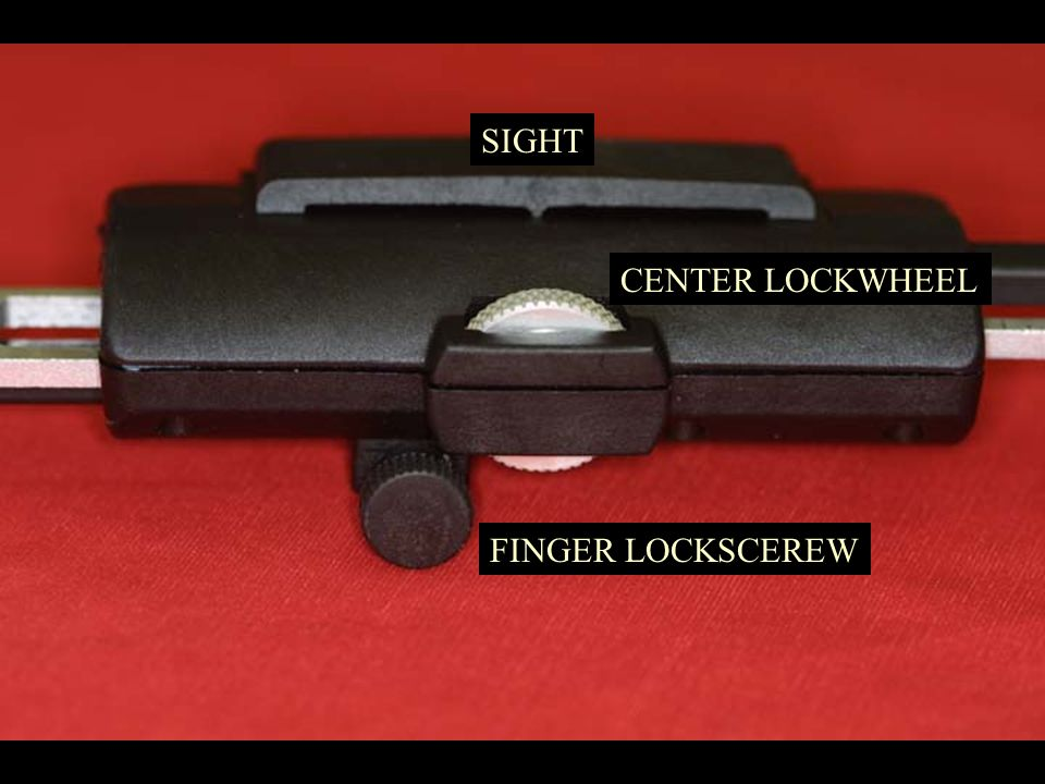 CENTER LOCKWHEEL FINGER LOCKSCEREW SIGHT