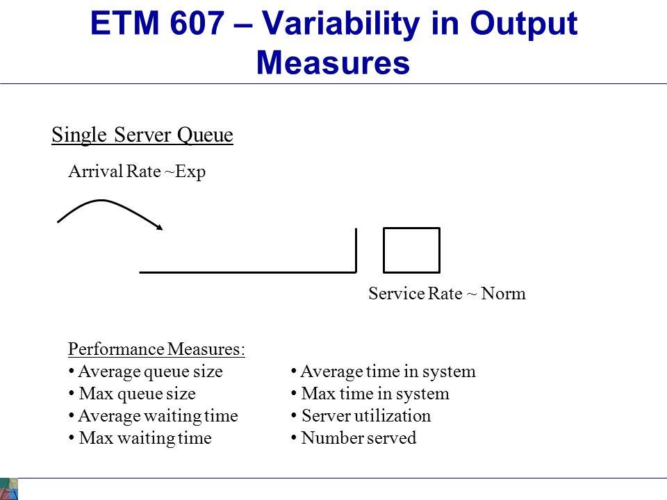 ETM 607 – Prediction Intervals Prediction Interval (PI): Similar to CI.