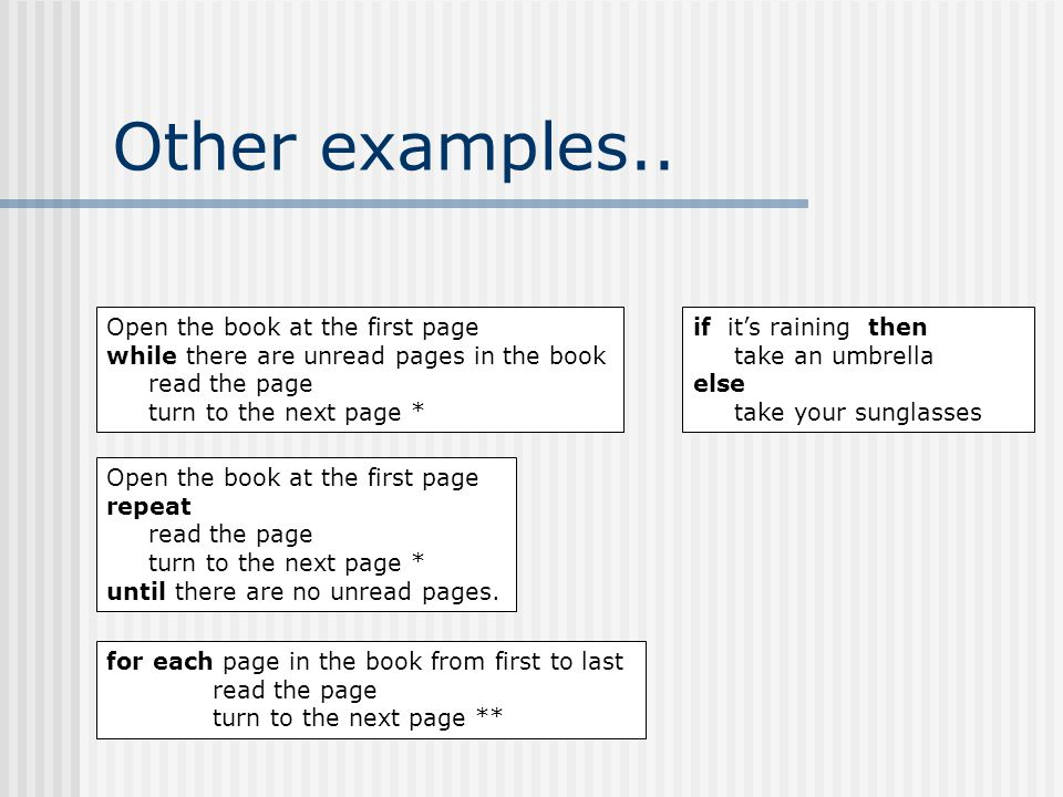 Other examples..