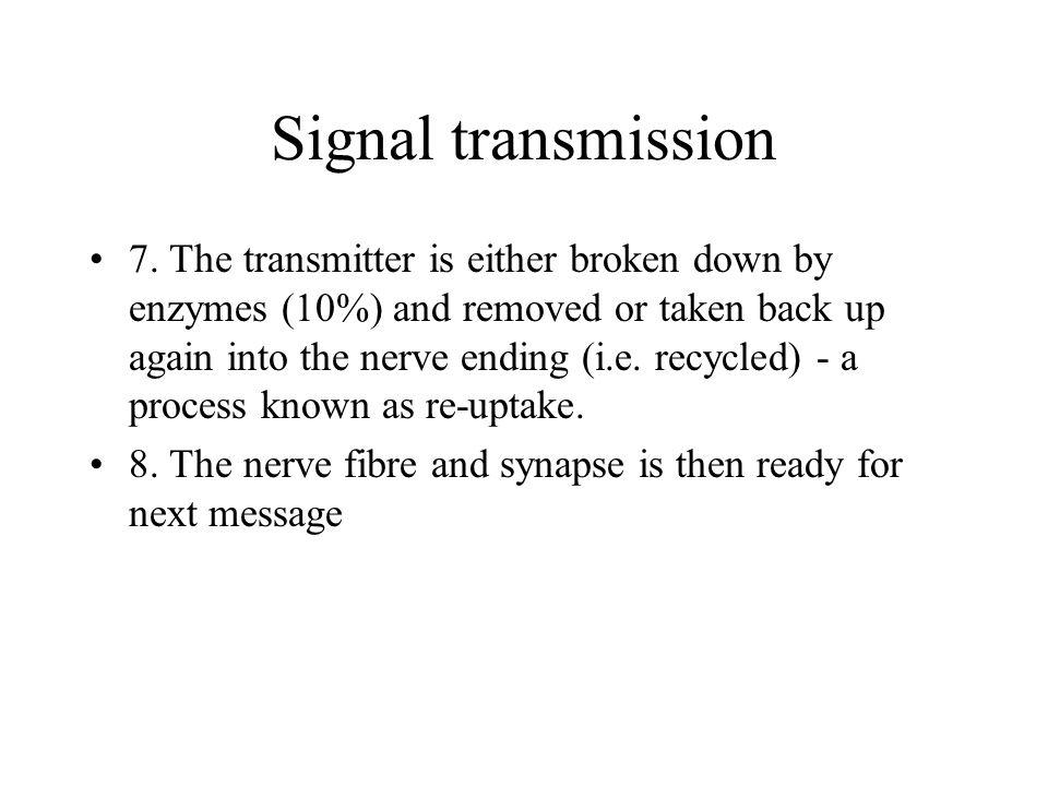 Signal transmission 7.