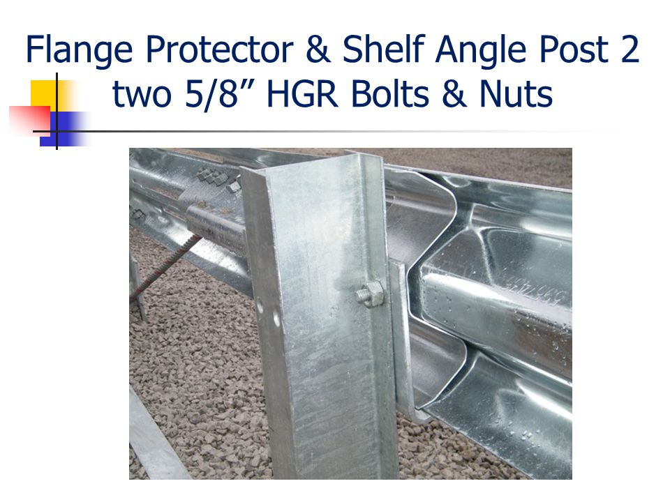 "Flange Protector & Shelf Angle Post 2 two 5/8"" HGR Bolts & Nuts"