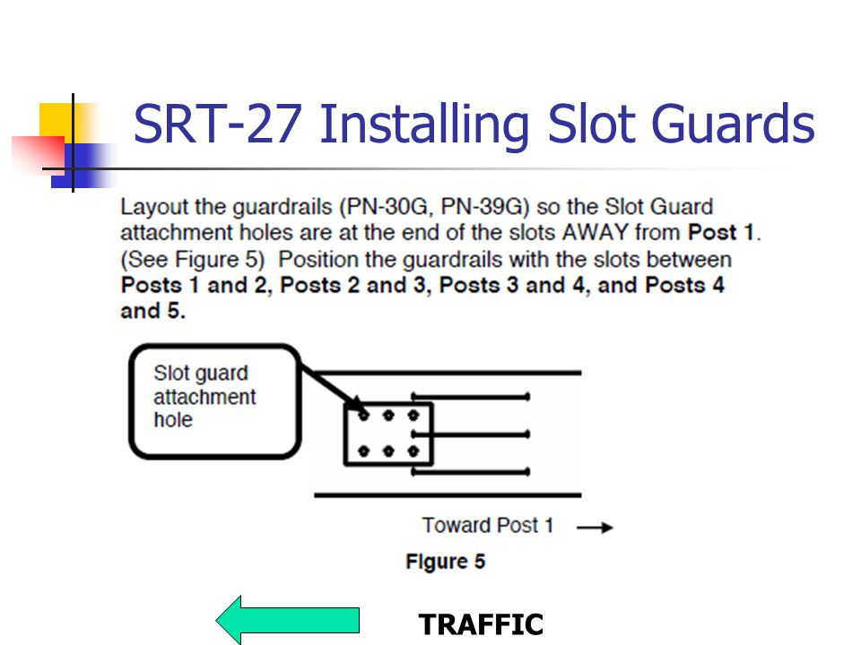 SRT-27 Installing Slot Guards TRAFFIC