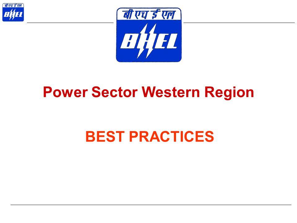 Power Sector Western Region BEST PRACTICES