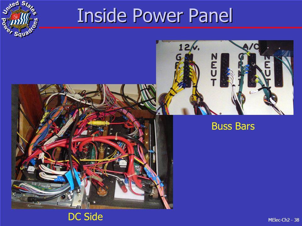 MElec-Ch2 - 38 Inside Power Panel DC Side Buss Bars