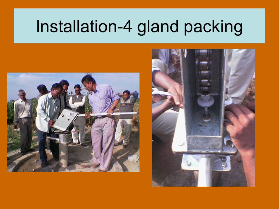 Installation-4 gland packing