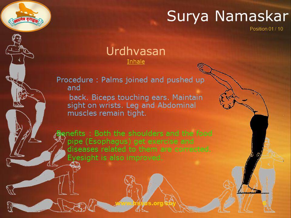 www.hssus.org/sny17 Surya Namaskar For more information visit www.hssus.org/sny sny@hssus.org