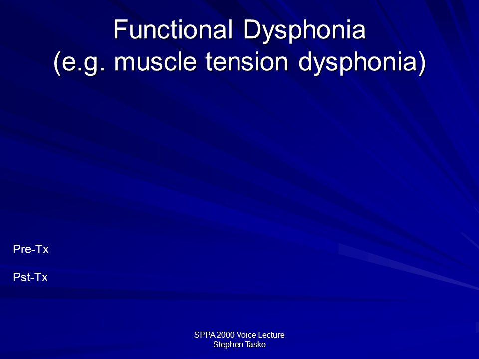 SPPA 2000 Voice Lecture Stephen Tasko Spasmodic Dysphonia