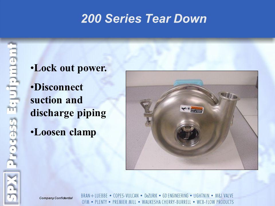 Company Confidential 200 Series Tear Down Remove Clamp