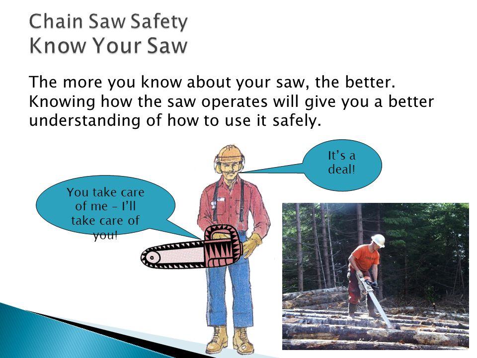 The more you know about your saw, the better.