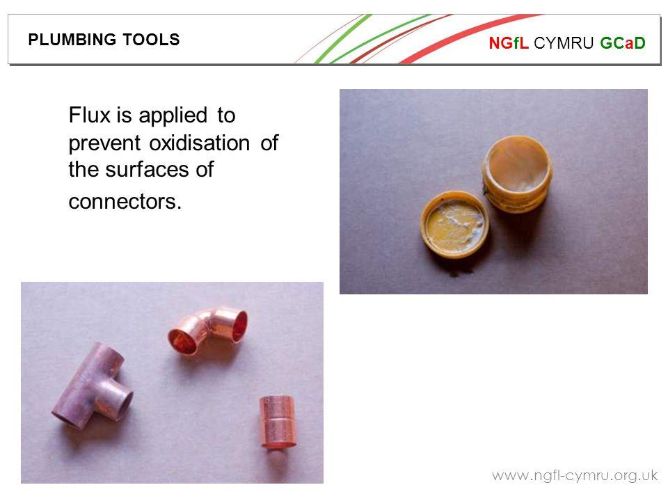 NGfL CYMRU GCaD www.ngfl-cymru.org.uk Pipe work is heated using a blow lamp.