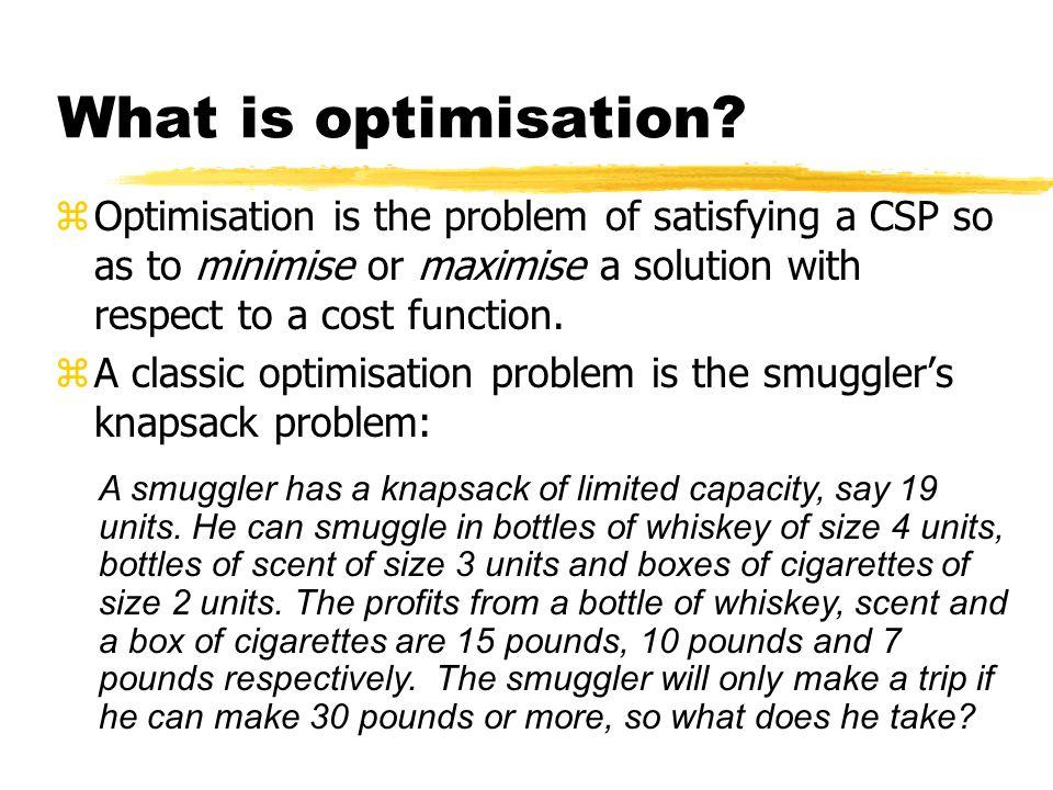 What is optimisation.