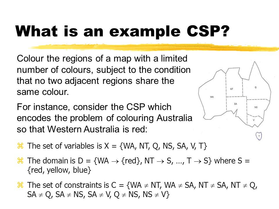 What is an example CSP.