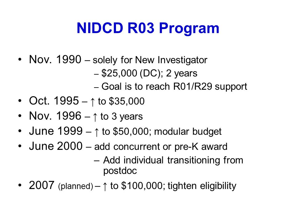 NIDCD R03 Program Nov.