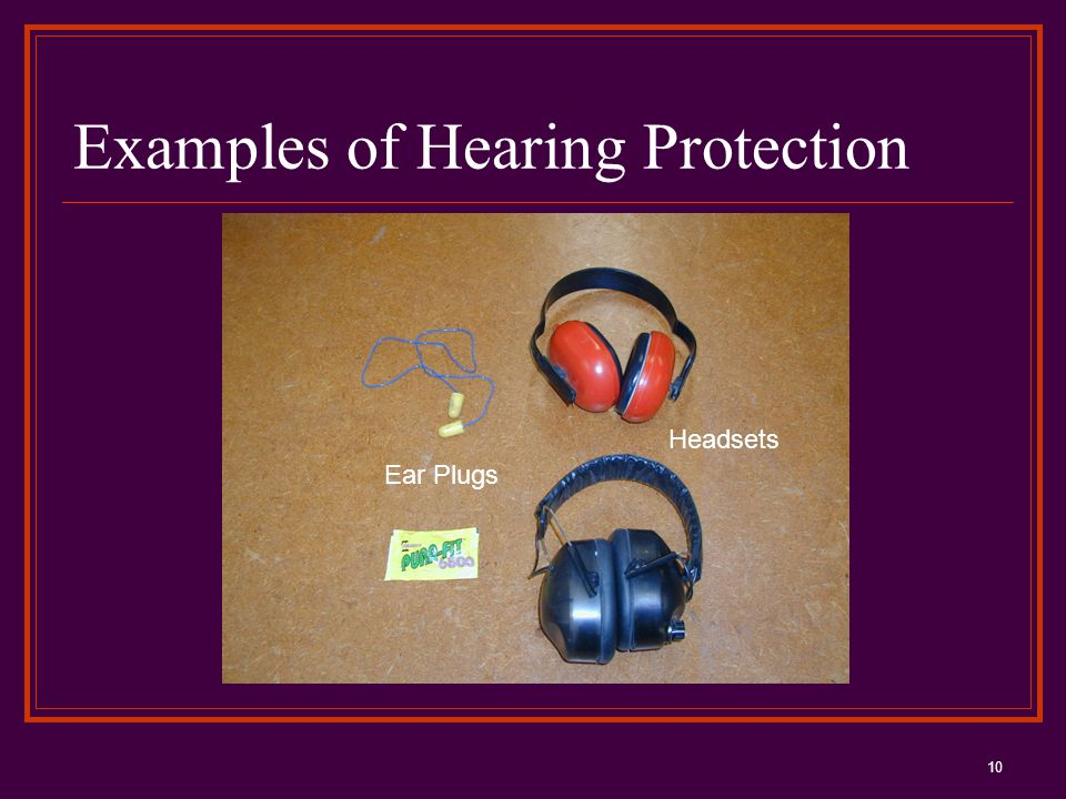 10 Examples of Hearing Protection Ear Plugs Headsets