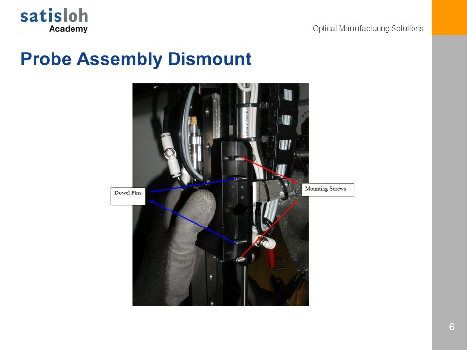 Optical Manufacturing Solutions 6 Probe Assembly Dismount