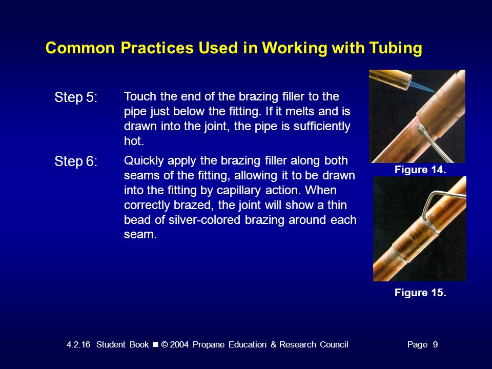 4.2.16 Student Book © 2004 Propane Education & Research CouncilPage 9 Common Practices Used in Working with Tubing Figure 14.