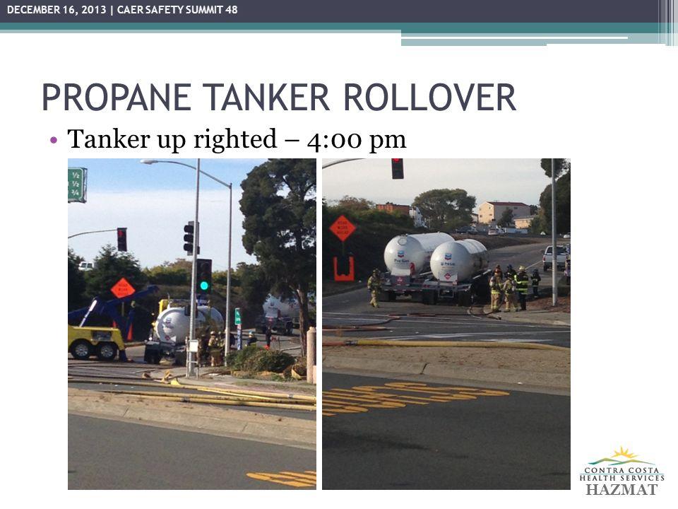 PROPANE TANKER ROLLOVER HAZMAT DECEMBER 16, 2013 | CAER SAFETY SUMMIT 48