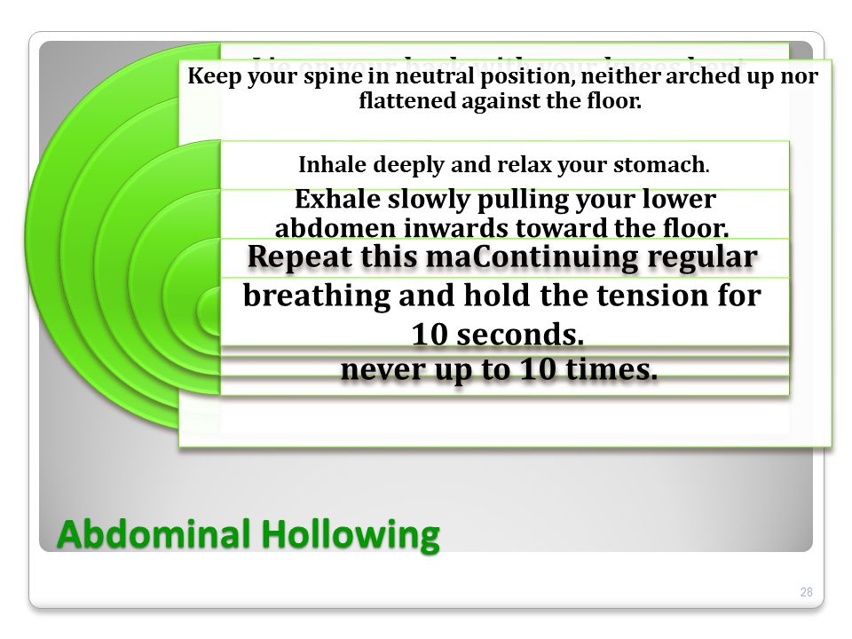 Abdominal Hollowing 28
