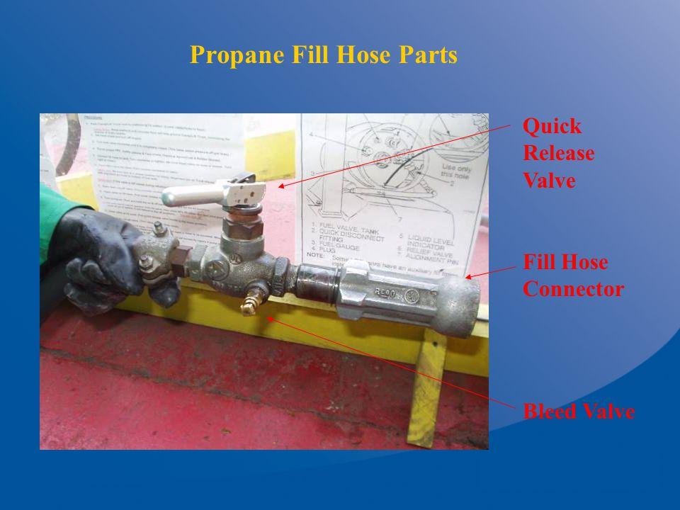 Propane Fill Hose Parts Quick Release Valve Fill Hose Connector Bleed Valve