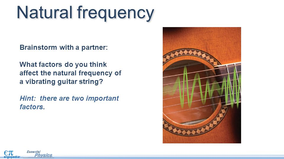 More inertia: lower frequency