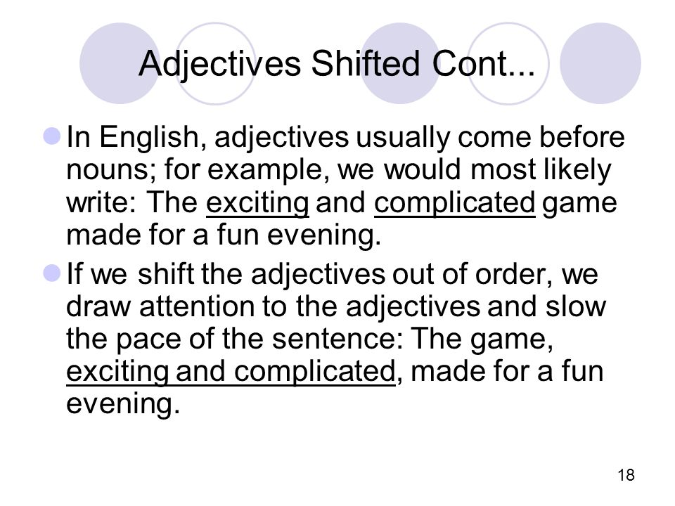 18 Adjectives Shifted Cont...