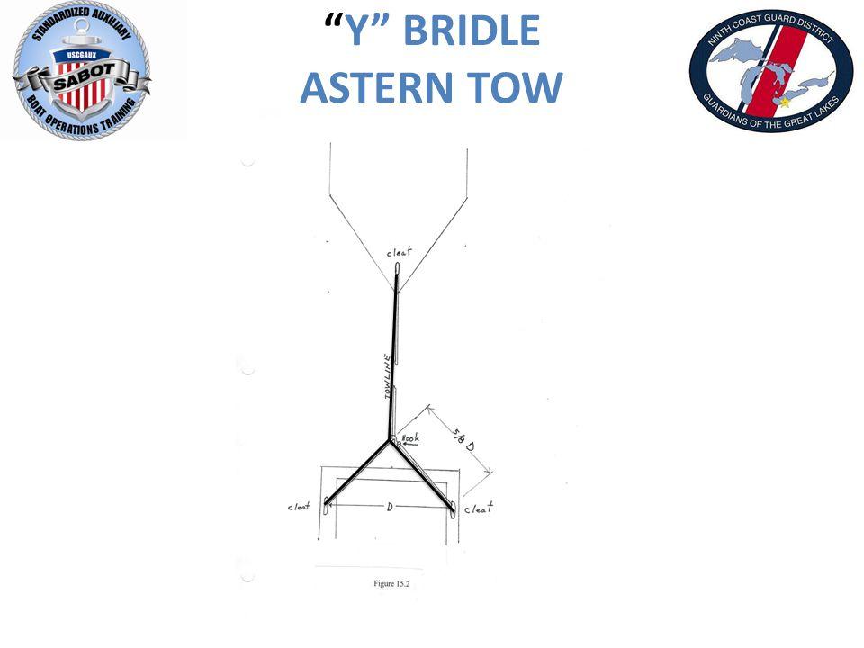 Y BRIDLE ASTERN TOW