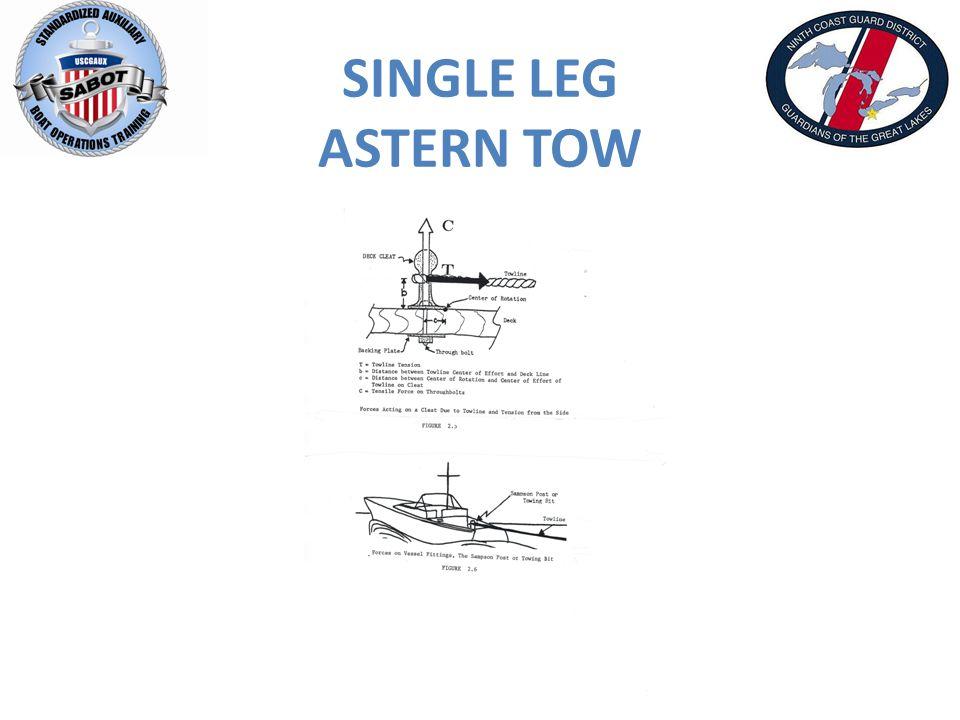 SINGLE LEG ASTERN TOW