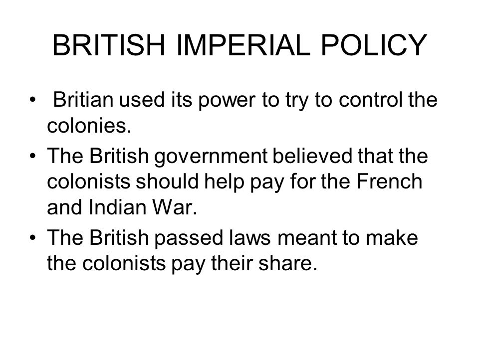 THE BRITISH & COLONIST STILL NOT GETTING ALONG.