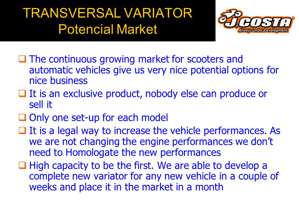 TRANSVERSAL VARIATOR Very Important Recomendations  Some units of the carburetor Yamaha T-Max have a slider which is 71,5mm long, instead of 72,5mm l