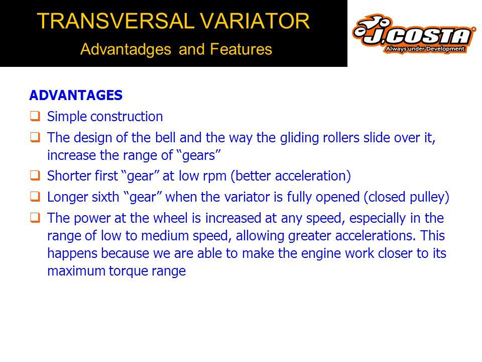 TRANSVERSAL VARIATOR How it Works  Original versus J.COSTA