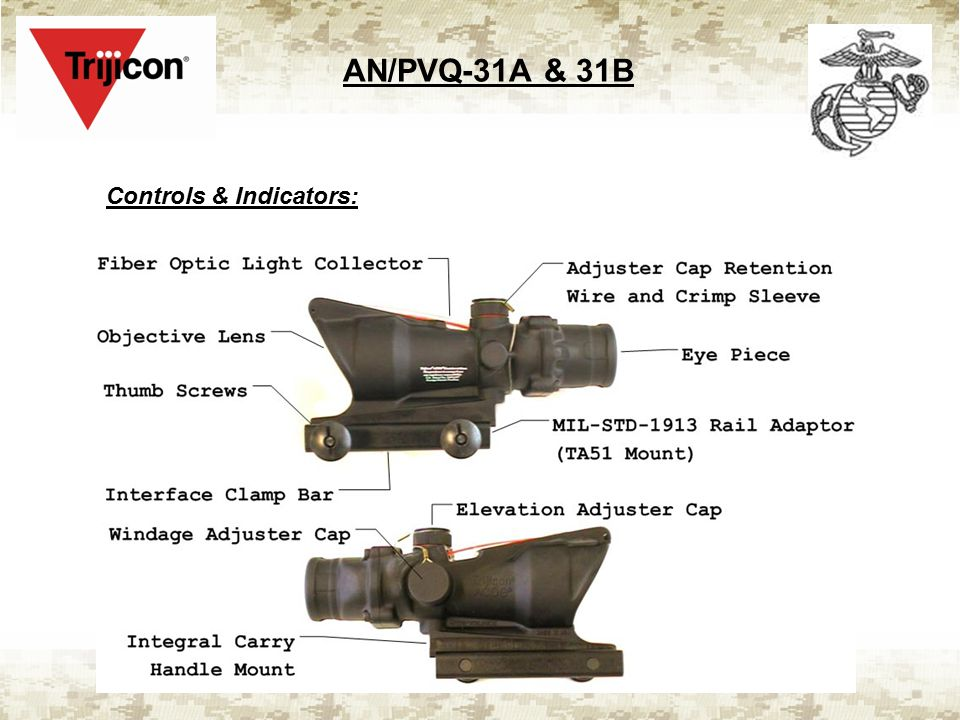 AN/PVQ-31A & 31B Controls & Indicators: