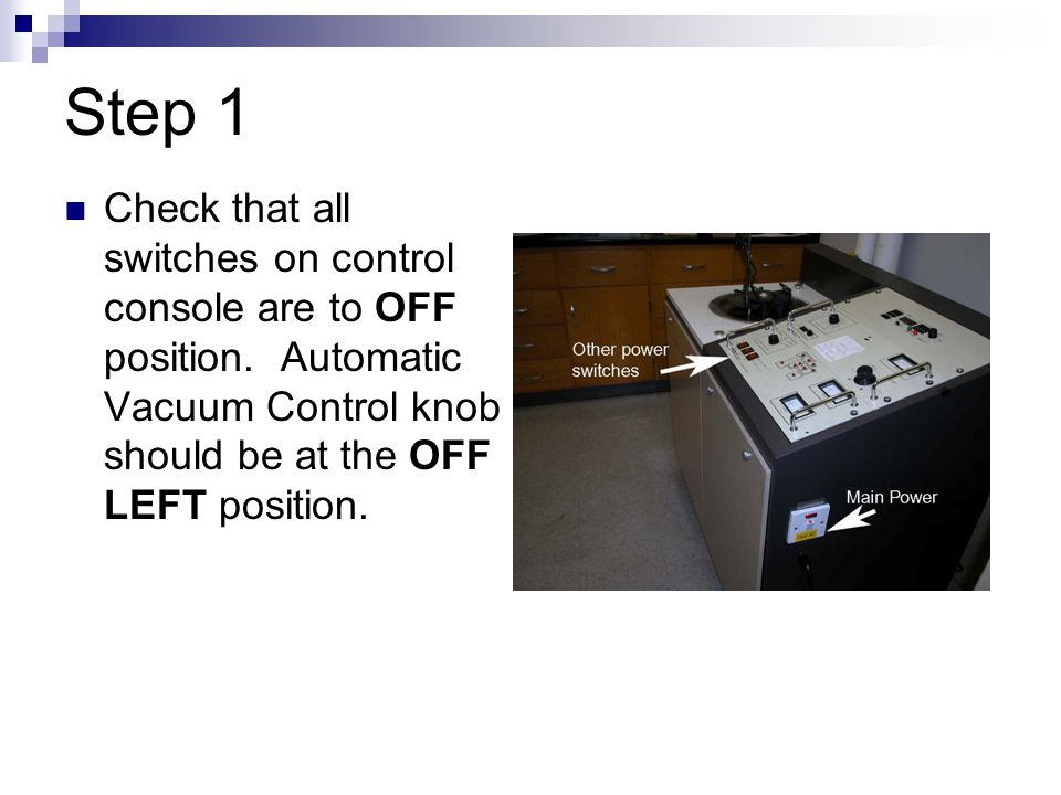 Step 17 Now shut off the electricity Turn Amperage control to OFF.