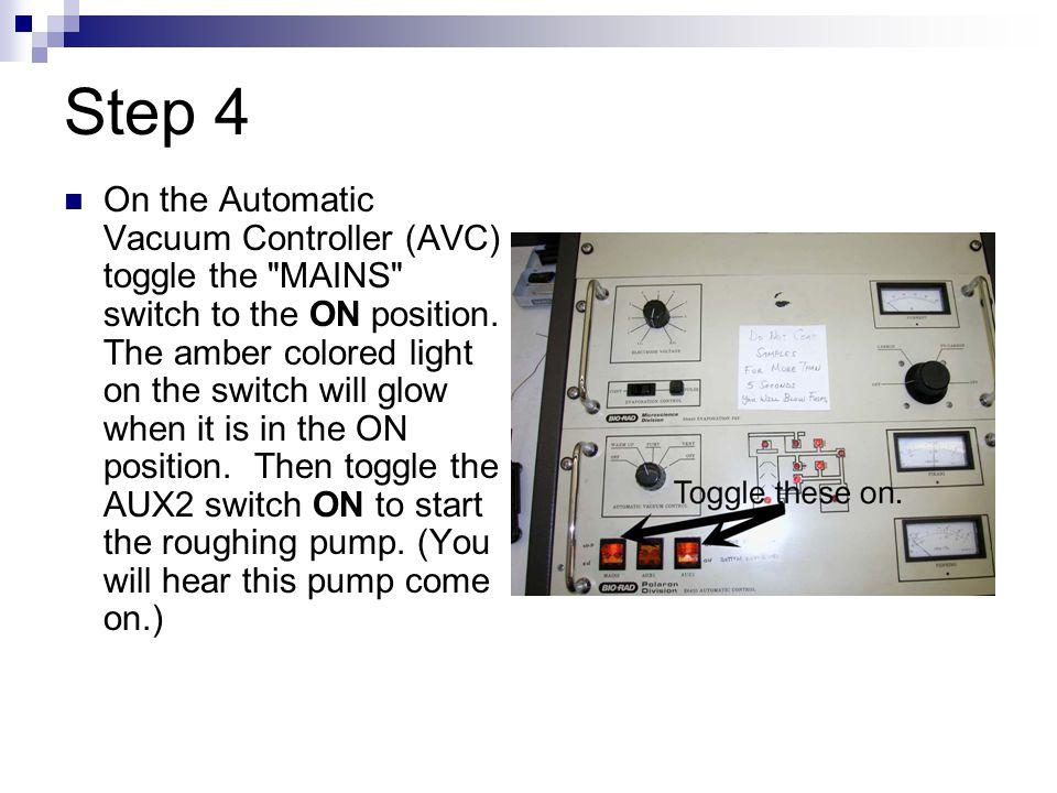 Step 5 Turn Automatic Vacuum Control knob to WARM UP.