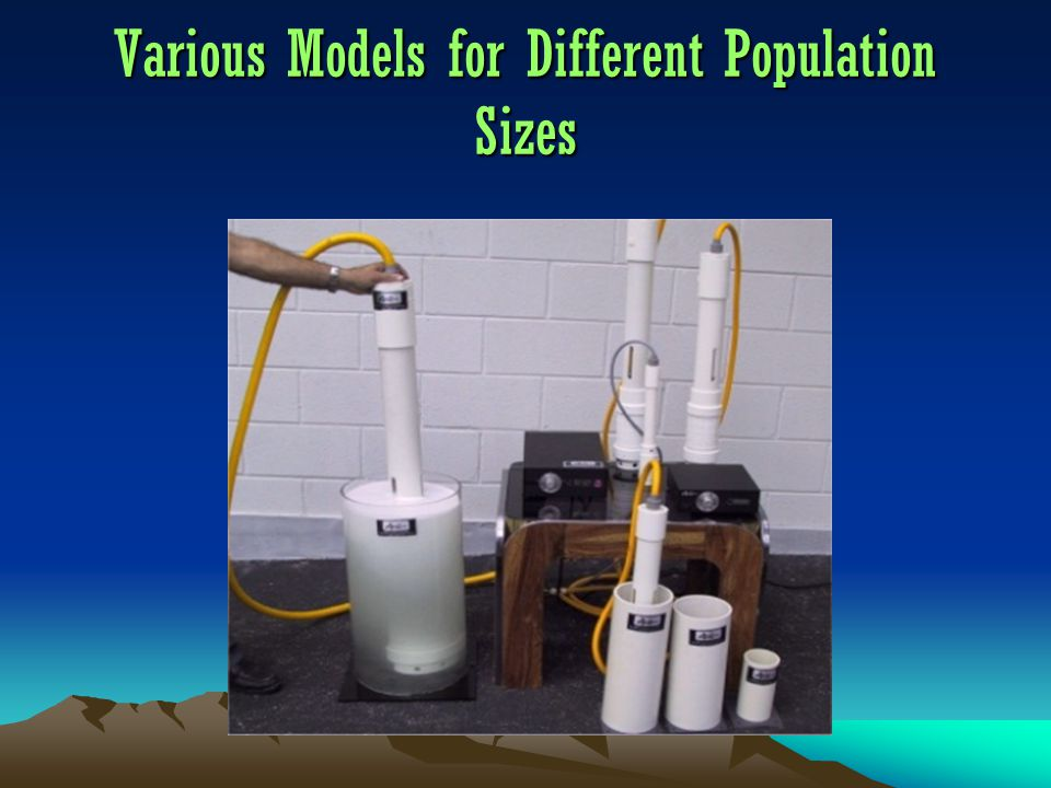 Various Models for Different Population Sizes