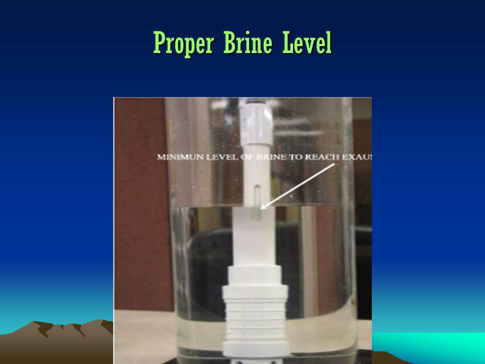 Proper Brine Level