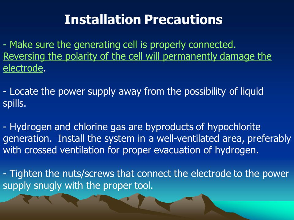 - Make sure the generating cell is properly connected.
