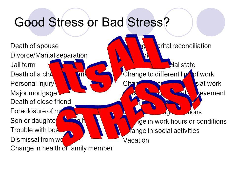 Good Stress or Bad Stress.