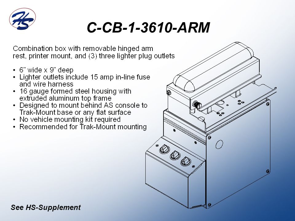 C-CB-1-3610-ARM See HS-Supplement