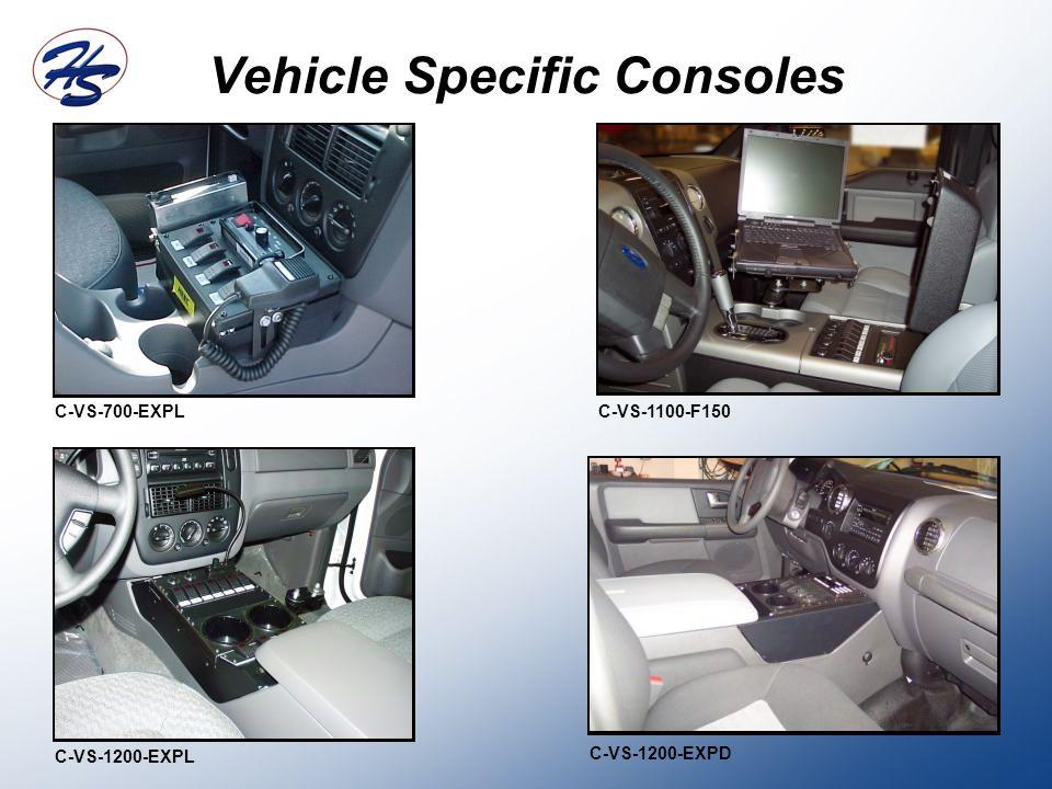 Vehicle Specific Consoles C-VS-700-EXPL C-VS-1200-EXPL C-VS-1100-F150 C-VS-1200-EXPD
