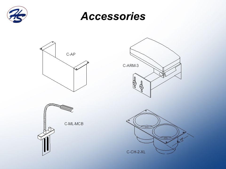Accessories C-CH-2-XL C-ARM-3 C-AP C-ML-MCB