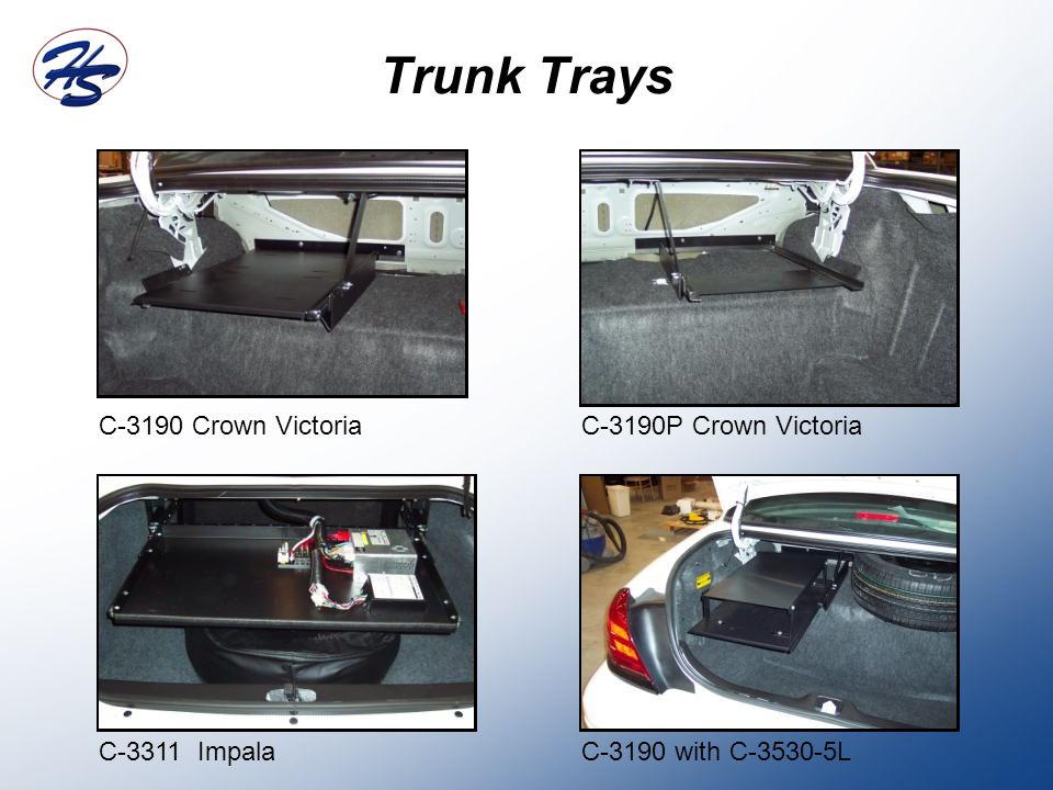 Trunk Trays C-3190 Crown VictoriaC-3190P Crown Victoria C-3311 ImpalaC-3190 with C-3530-5L