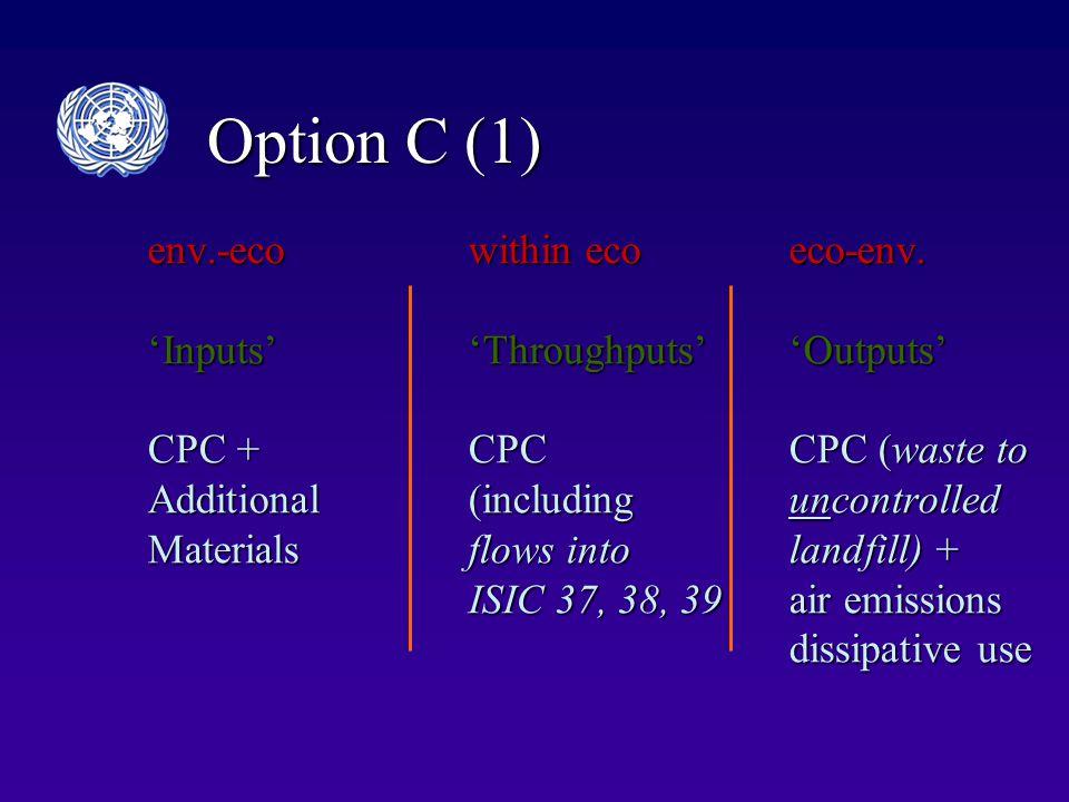 Option C (1) env.-ecowithin ecoeco-env.