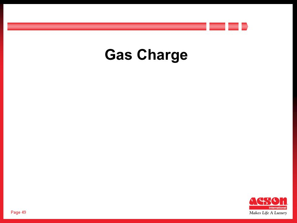 Page 49 Gas Charge