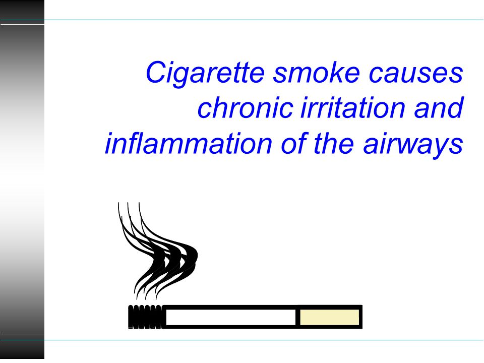 Cigarette smoke causes chronic irritation and inflammation of the airways